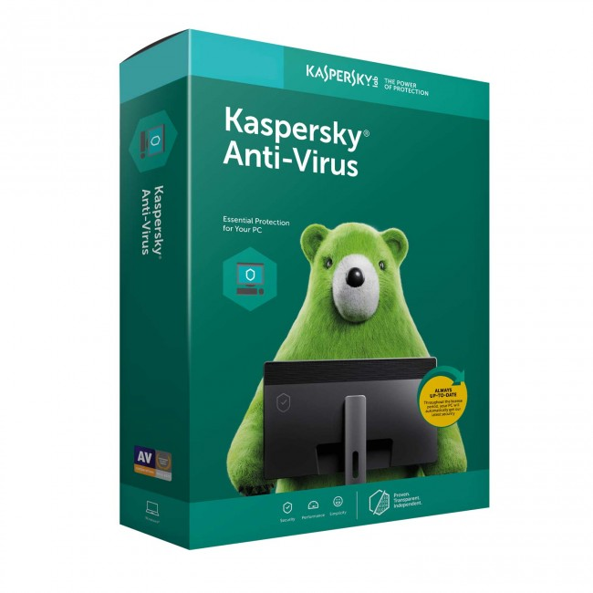 Kaspersky Antivirus 2020 3 PC | 1 Year | 3 Key